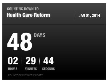 Health Care Reform Countdown